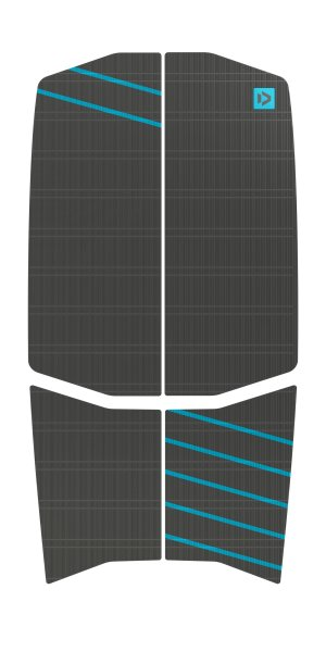 DUOTONE Traction Pad - Front 5mm dark grey-tourquoise