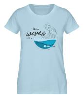 Kitesafe.de 2020 Damen T-Shirt Wave dunkel